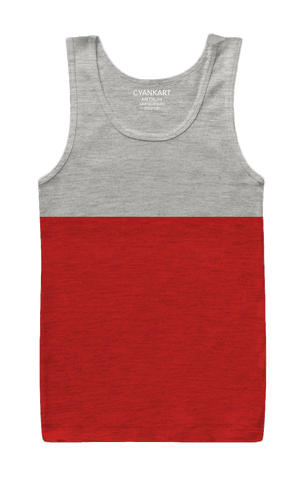 Grey and Red Tank Top