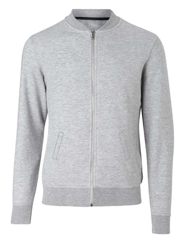 Grey Melange Bomber Jacket