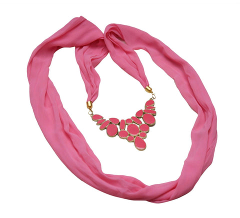 Hot Pink Necklace Scarf