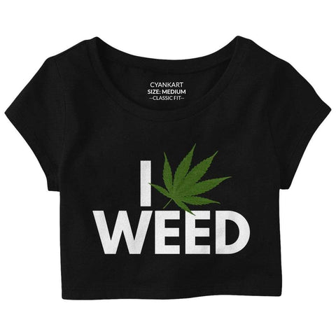 I Love Weed Crop Top