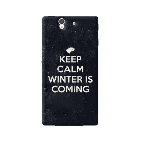 Keep Calm Winter is Coming Sony Xperia Z Case