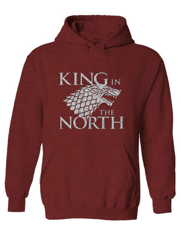 King In The North Maroon Pullover Hoodie