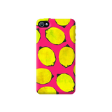 Lemon Pink Apple iPhone 4/4S Case
