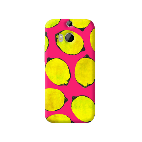 Lemon Pink HTC One M8 Case
