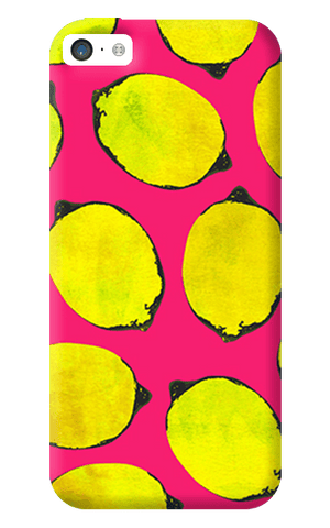 Lemon Pink iPhone 5C Case