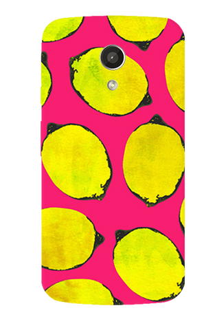 Lemon Pink Motorola Moto G 2nd Gen Case
