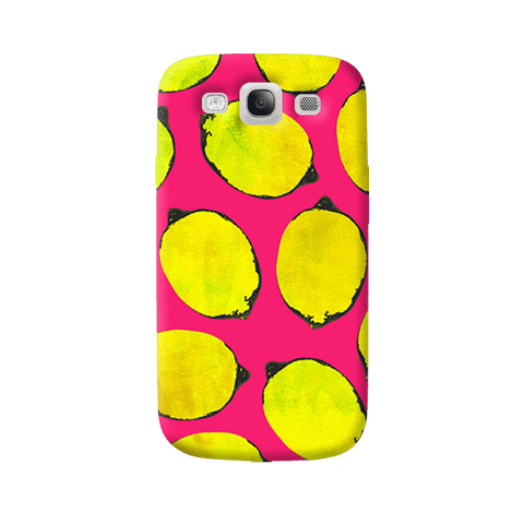 Lemon Pink Samsung Galaxy S3 Case