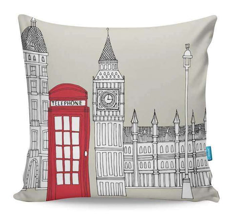London Red Telephone Box Cushion Cover