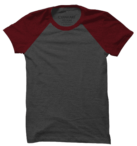 Maroon and Anthra Half Sleeves Raglan T-Shirt