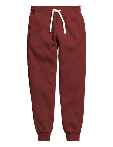 Maroon Melange Women's Sweatpants