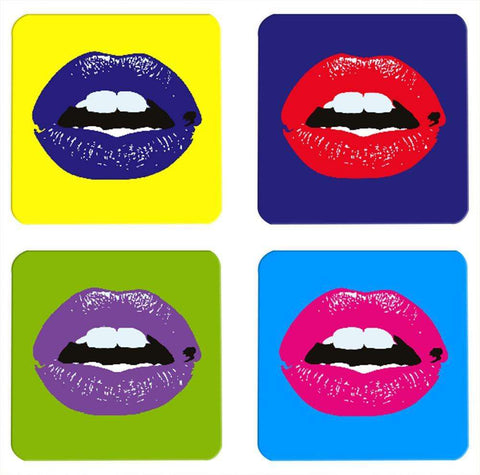 Minimal Pop Art Coasters