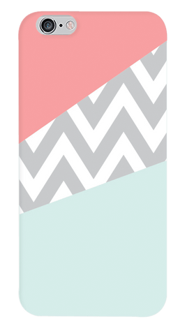 Mint & Coral Chevron iPhone 6/6S Case