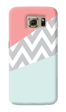 Mint & Coral Chevron Samsung Galaxy S6 Case