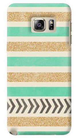 Mint & Gold  Samsung Galaxy Note 5 Case