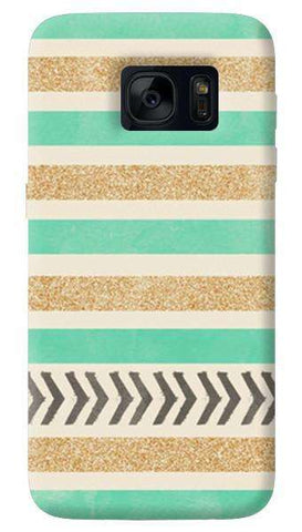 Mint & Gold  Samsung Galaxy S7 Case