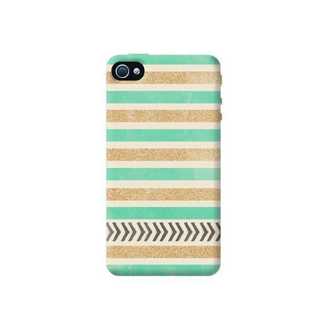 Mint & Gold Apple iPhone 4/4S Case