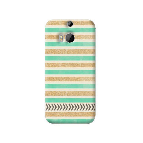 Mint & Gold HTC One 8 Case