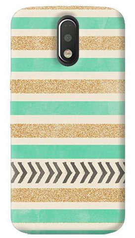 Mint & Gold Motorola Moto G4/ G4 Plus Case