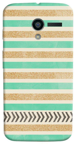 Mint & Gold Motorola Moto X Case