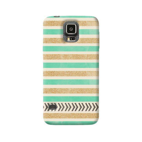 Mint & Gold Samsung Galaxy S5 Case