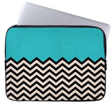 Mint Chevron Laptop Sleeve
