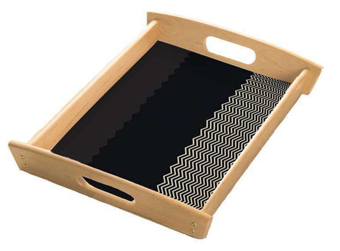 Monochrome Chevron Serving Tray