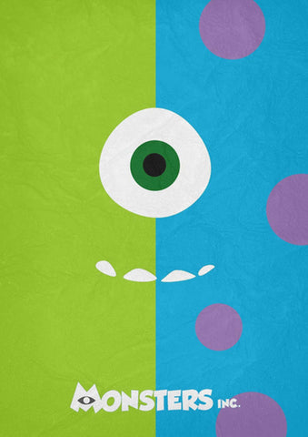 Monsters Inc. Minimal Poster