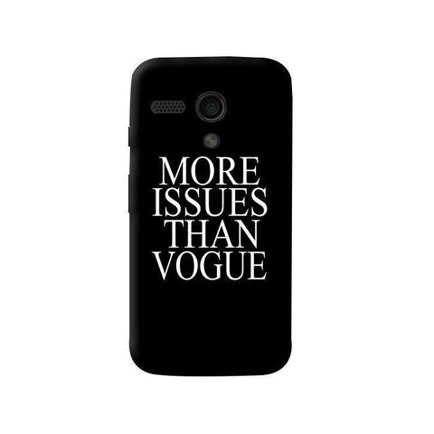 More Issues Than Vogue Moto G Case