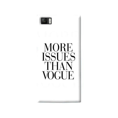 More Issues Than Vogue Xiaomi Mi3 Case