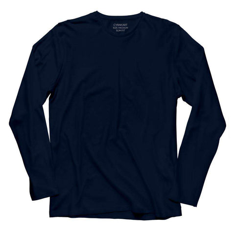 Navy Blue Full Sleeve T-Shirt