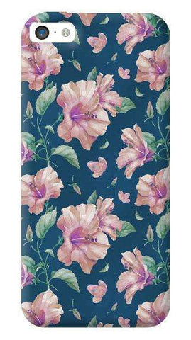 Navy Floral Apple iPhone 5C Case