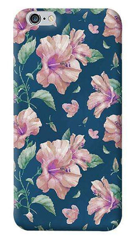Navy Floral Apple iPhone 6/6S Case