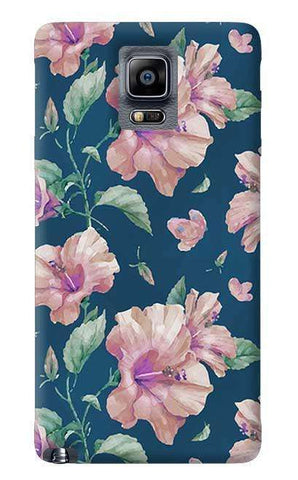Navy Floral Samsung Galaxy Note 4 Case