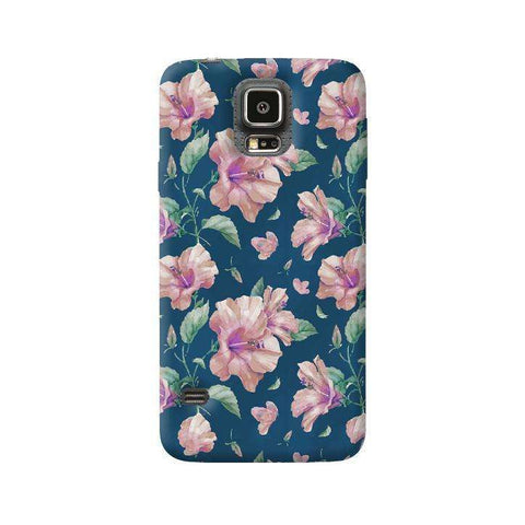 Navy Floral Samsung Galaxy S5 Case