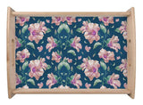 Navy Floral Serving Tray