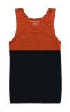 Orange and Anthra Grey Tank Top