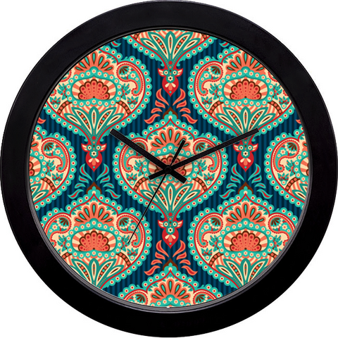 Ornate Paisley Wall Clock