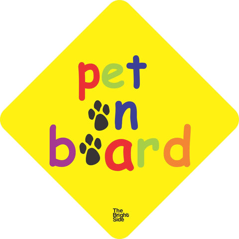 Pet On Board Car Sign