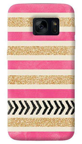Pink & Gold   Samsung Galaxy S7 Edge Case