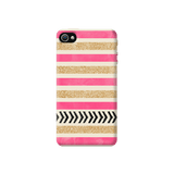 Pink & Gold Apple iPhone 4/4S Case