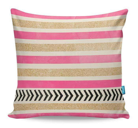 Pink & Gold Cushion Cover