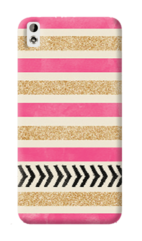 Pink & Gold HTC Desire 816 Case