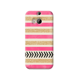 Pink & Gold HTC One M8 Case