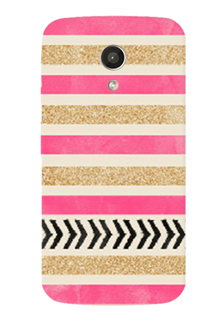 Pink & Gold Motorola Moto G 2nd Gen Case