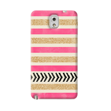 Pink & Gold Samsung Galaxy Note 3 Case