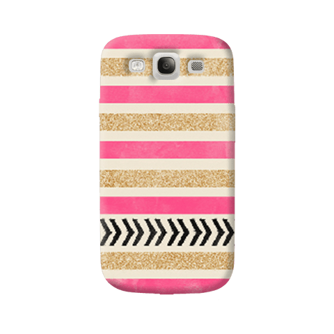 Pink & Gold Samsung Galaxy S3 Case