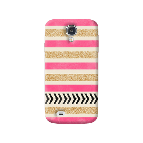 Pink & Gold Samsung Galaxy S4 Case