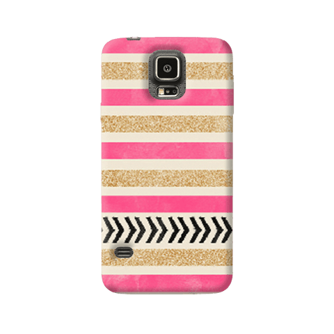 Pink & Gold Samsung Galaxy S5 Case