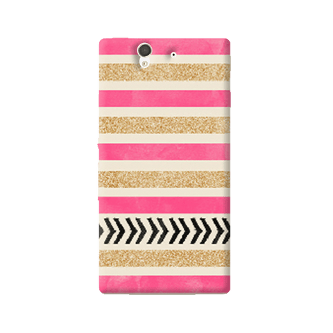 Pink & Gold Sony Xperia Z Case