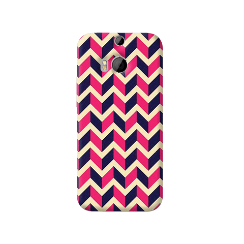 Pink & Purple HTC One M8 Case
